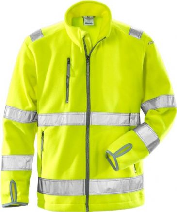 Fristads High Vis Fleece Jacket CL 3 4400 FE (Hi Vis Yellow)
